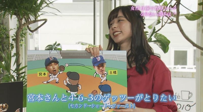 野球の話で嬉しそうな山本萩子アナ